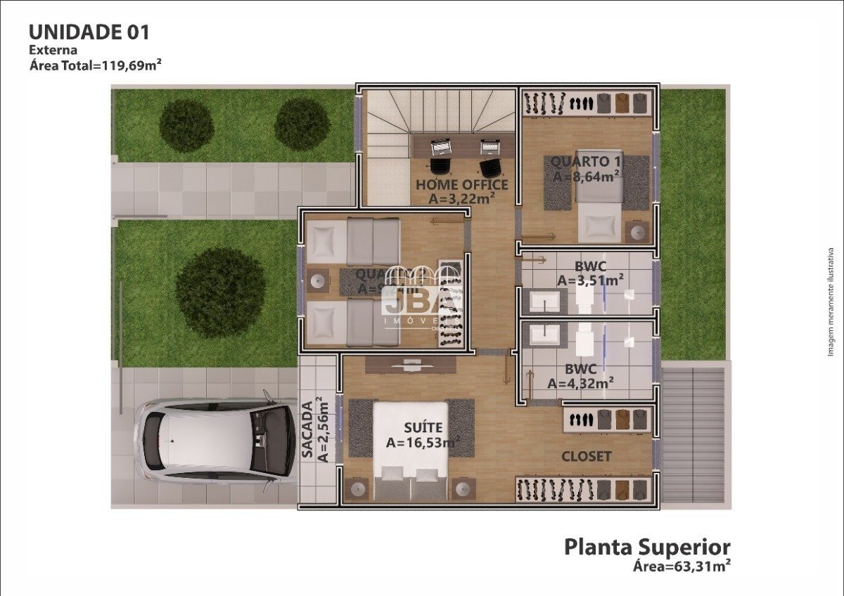 Residencial South Village - Planta da unidade 13376.002