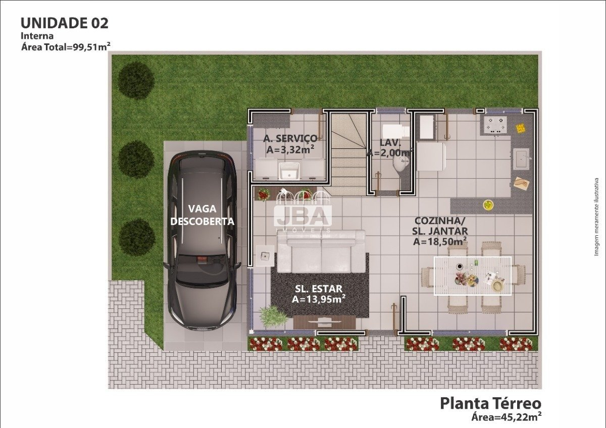 Residencial South Village - Planta da unidade 13376.003